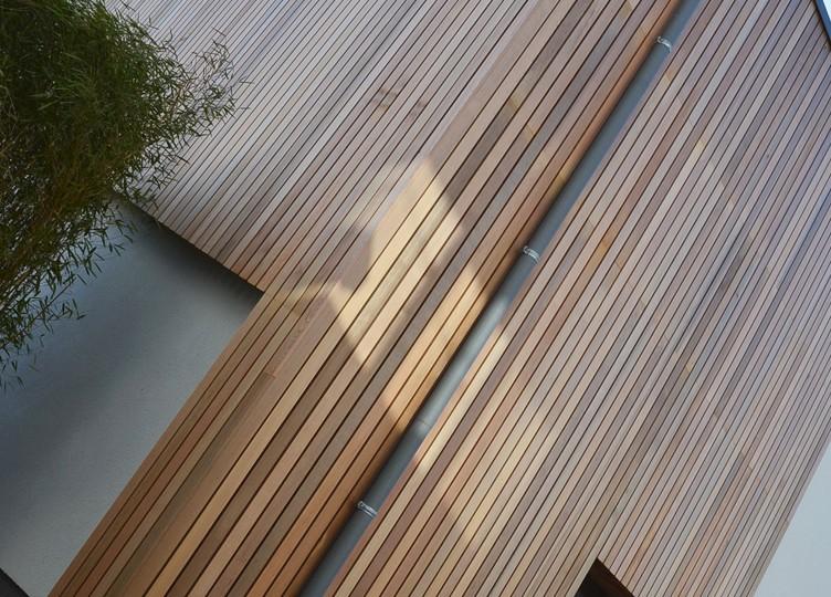 bois, crépi, toiture, plate, ferronnerie